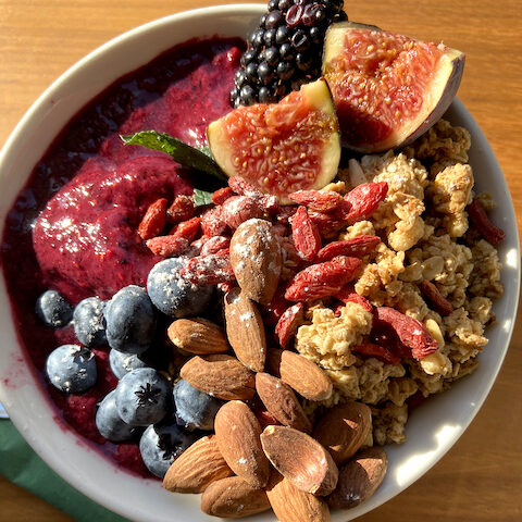 Plant based superfood smoothie bowl