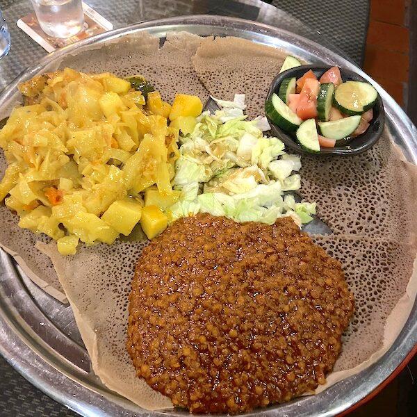 Vegan friendly Ethiopian food in Munich